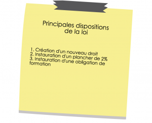 dispositions de la nouvelle loi